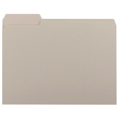 Smead Interior File Folder, 1/3-Cut Tab, Letter Size, Gray